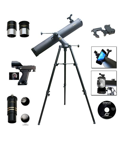 Cosmo Brands Cassini 1000 X 120mm Astronomical Tracker Mount Telescope and Smartphone Adapter