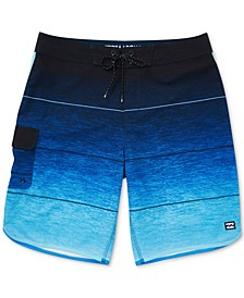 "Men's 73 Striped Pro Stretch 20"" Board Shorts"