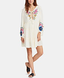 Spell On You Embroidered Keyhole Dress