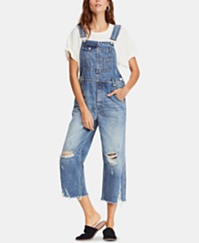 Free People Baggy Boyfriend Overalls