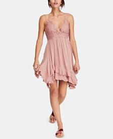 Free People Adella Crochet-Top Ruffled-Hem Dress