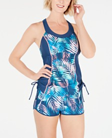 GO by Gossip Breezing By Tankini Top & Swim Shorts