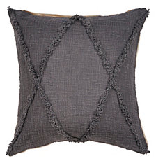 LR Home Criss Cross Cabin Throw Pillow