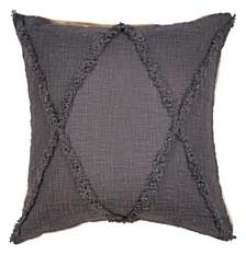 LR Home Criss Cross Cabin Throw Pillow