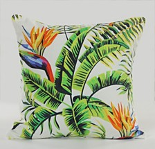 LR Home Banana Palm Throw Pillow