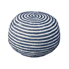 Seafaring Hand-Knitted and Braided Pouf