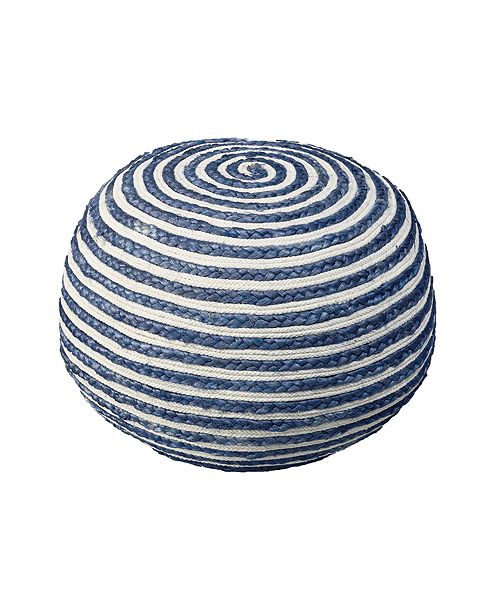 LR Home Seafaring Hand-Knitted and Braided Pouf