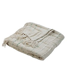 LR Home Stunning Sea foam Decorative Throw Blanket