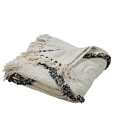 Soft Crossed Decorative Throw Blanket