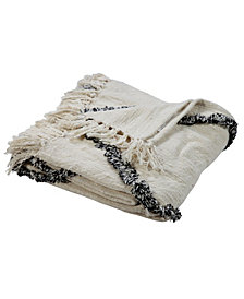 LR Home Soft Crossed Decorative Throw Blanket
