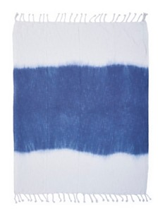 LR Home Shibori Ombre Slab Throw Blanket