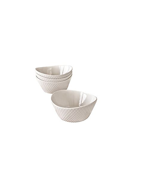Over and Back Jester Diamond Bowls - Set Of 4