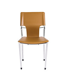 Terry Side Chair with Chrome Legs - Set Of 2