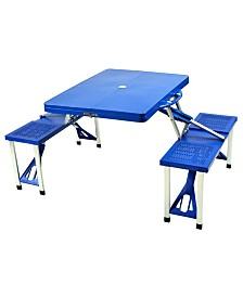 Picnic at Ascot Portable Folding Outdoor Picnic Table with 4 Seats