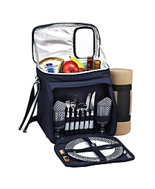 Picnic at Ascot Insulated Picnic Basket, Cooler Fully Equipped for 2 with Blanket