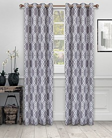 """Soft Quality Woven, Ribbon Collection Blackout Thermal Grommet Curtain Panel Pair, Set of 2, 52"""" x 96"""""""
