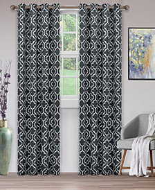 "Superior Soft Quality Woven, Trellis Collection Blackout Thermal Grommet Curtain Panel Pair, Set of 2, 52"" x 108"""