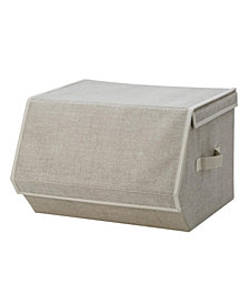 Simplify Small Collapsible Storage Chest in Faux Jute