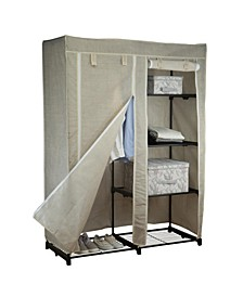 "48"" Portable Closet in Beige"