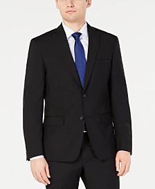 DKNY Men's Modern-Fit Stretch Black Solid Suit Jacket