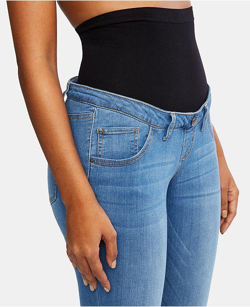302d5a447df3e ... Motherhood Maternity BOUNCEBACK Post Pregnancy Destructed Skinny Jeans  ...