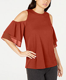 MICHAEL Michael Kors Cold-Shoulder Top