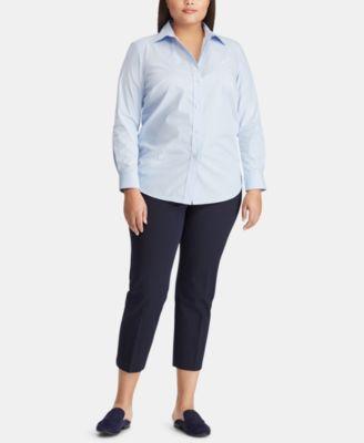 Plus Size Striped Shirt