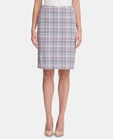 Tommy Hilfiger Tweed Pencil Skirt, Created for Macy's
