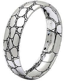 Crocodile Edge Signature Sterling Silver Bangle