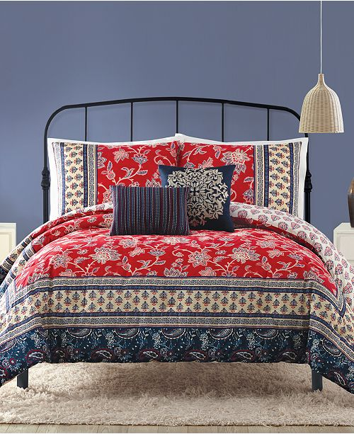 Peking Indigo Bazaar Marbella King Comforter Set - 5 Piece