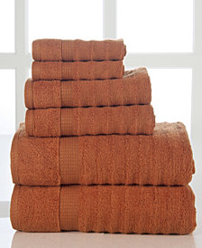 Elegance Spa Quick Dry Cotton Ribbed 6 Piece Towel Set