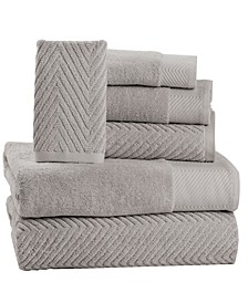 100% Cotton Jacquard 6 Piece Towel Set