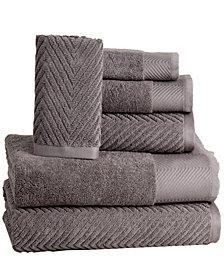 Elegance Spa 100% Cotton Jacquard 6 Piece Towel Set