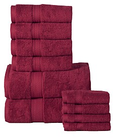 Casa Platino Soft and Luxurious Cotton 10 Piece Towel Set