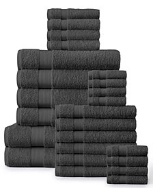 Economic Collection Soft Cotton 24 Piece Towel Set