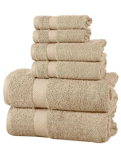 Elegance Spa Luxurious 600 GSM Cotton 6 Piece Towel Set