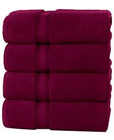 Super Soft Zero Twist Cotton Bath Towels (4 Pack)