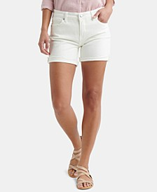Ave White Denim Shorts