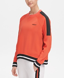 DKNY Sport Colorblocked Varsity-Stripe Top, Created for Macy's