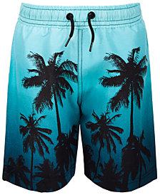 Ideology Toddler Boys Ombré Palm-Print Swim Trunks, Created for Macy's