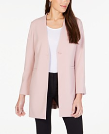 Alfani Long Collarless Blazer, Created for Macy's