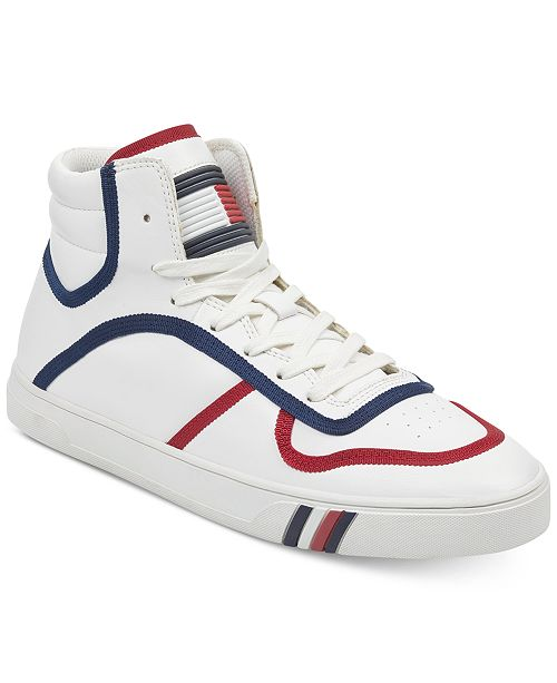 f54a7ffe0ad4 Tommy Hilfiger Men s Japan High Top Sneakers   Reviews - All Men s ...