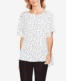 Vince Camuto Dot-Print Short-Sleeve Top