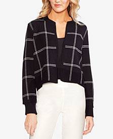 Vince Camuto Cotton Cropped Cardigan