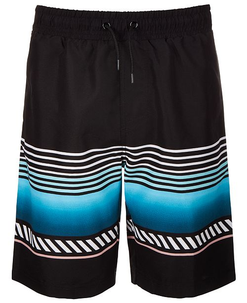 Ideology Big Boys Striped Swim Trunks, Created for Macy's