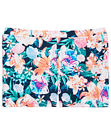 Ideology Big Girls Floral-Print Swim Boyshorts, Created for Macy's