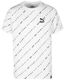 Puma Big Boys Logo Archive Graphic T-Shirt