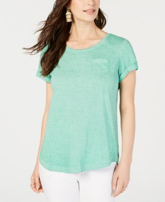 Image of Style & Co Burnout T-Shirt, Created for Macy's