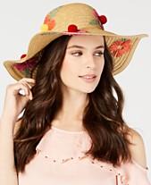 607b5520ba82b Betsey Johnson Floral Bliss Pom Pom Floppy Hat