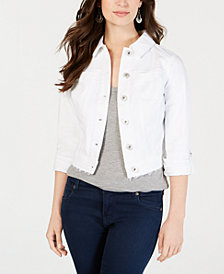 Style & Co Petite Released-Hem Cropped Denim Jacket, Created for Macy's
